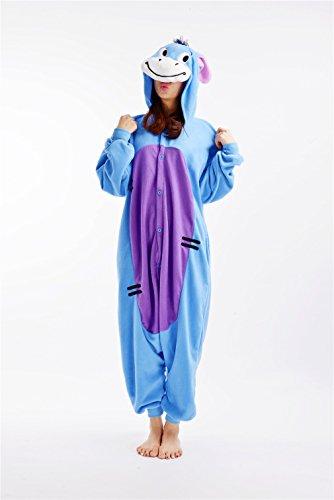 Frau Pokemon Pikachu Schlafanzug Erwachsene Anime Cosplay Halloween Kostüm Kleidung Onesie-M Donkey