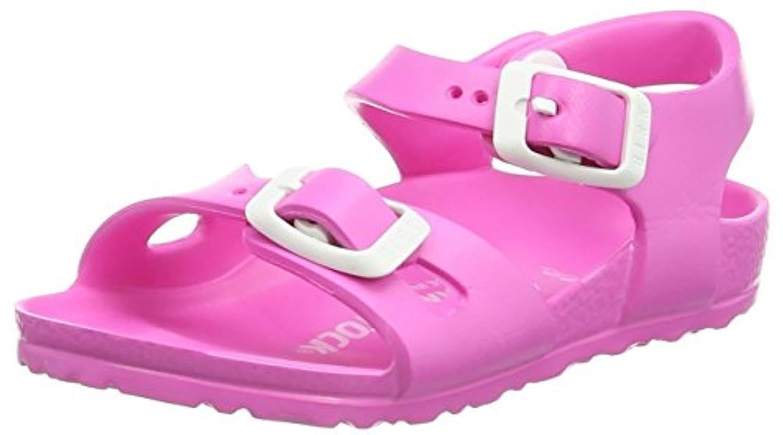 Birkenstock Girls' Rio EVA Open Toe Sandals, Pink (Neon Pink), 7 Child UK