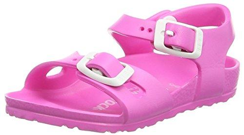 Birkenstock Rio Eva, Sandali con Cinturino alla Caviglia Bambina, Rosa (Neon Pink), 24 EU