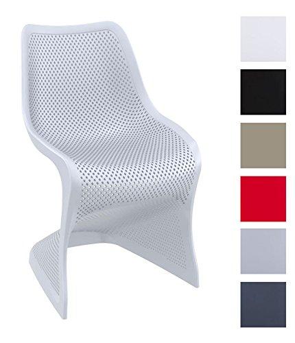 CLP Design Kunststoff-Stuhl BLOOM - XXL Gartenstuhl - Freischwinger Stuhl