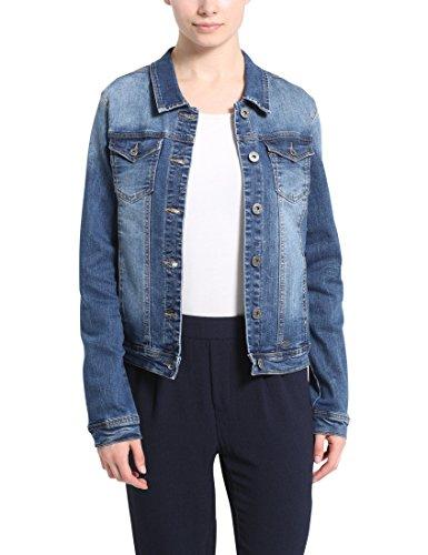 Berydale Damen Jeansjacke mit modischer Waschung, Dunkelblau, Gr. 40