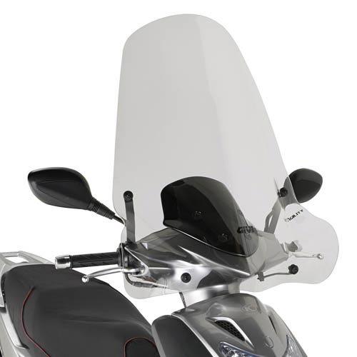 GIVI 441A Parabrezza specifico, trasparente 72 x 66 cm (H x L) per KYMCO AGILITY 50-125 - 150 R16 (08 > 11)