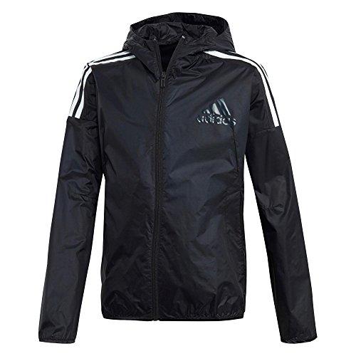 adidas Performance adidas CF6406 YB LIGHT JACK Mädchen Jungen Kapuzenjacke mit coolem Rückendruck, Groesse 128, schwarz (Jack Adidas)