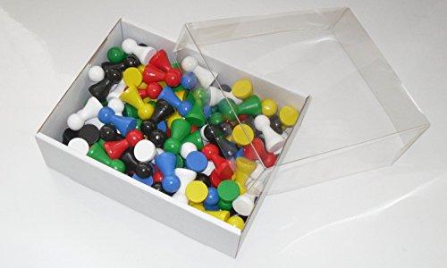 Preisvergleich Produktbild 120 Halmakegel aus Holz 27 mm , farblich gemischt