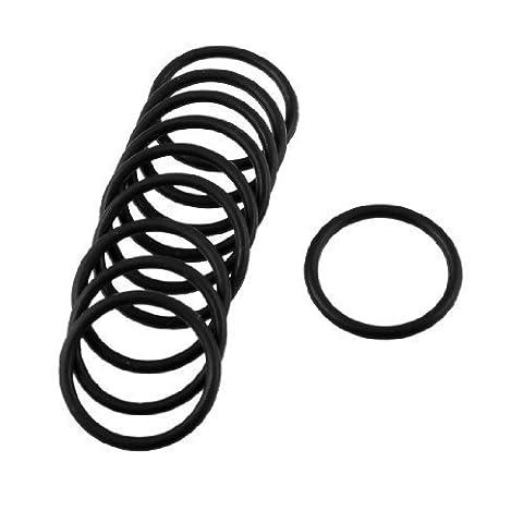 10 Pcs Black Rubber Oil Seal O Ring Sealing Gasket Washers 22mm x 2mm