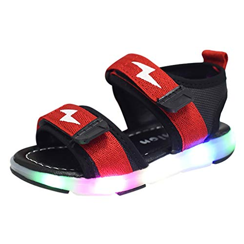SOMESUN 2019 Bambini Bambino Ragazze Casuale LED Scarpe,Lettera Luce Luminoso Correre Sport Sandali Scarpe da Ginnastica,Sandali Senza Dita Scarpe da Spiaggia