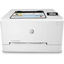 HP Laser Jet Pro M254nw - Impresora Color láser (hasta 21 ppm, ethernet y Wi-Fi, inalámbrico, DDR de 256 MB, Disco Duro de 2 GB, Windows 7, 8, 8.1 y 10, HP Auto-On/Auto-Off, USB Frontal) Blanco