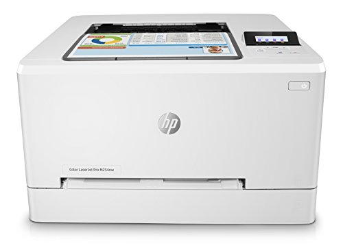 HP Laser Jet Pro M254nw - Impresora Color láser (hasta 21 ppm, ethernet y Wi-Fi, inalámbrico, DDR de 256 MB, Disco Duro de 2 GB, Windows 7, 8, 8.1 y 10, HP Auto-On/Auto-Off, USB Frontal) Blanco