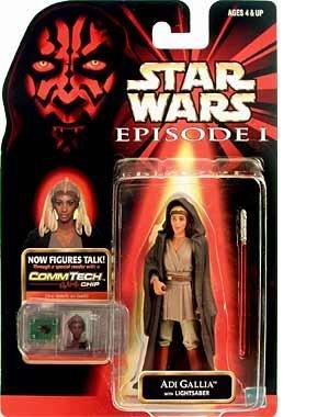 "Preisvergleich Produktbild Adi Gallia Jedi Master + Commtalk Chip - Star Wars Episode I ""The Phantom Menace"" Collection von Hasbro"
