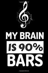 My Brain Is 90 Percent Bars: Lyrics Notebook - College Rule Lined Music Writing Journal Gift Music Lovers (Songwriters Journal)