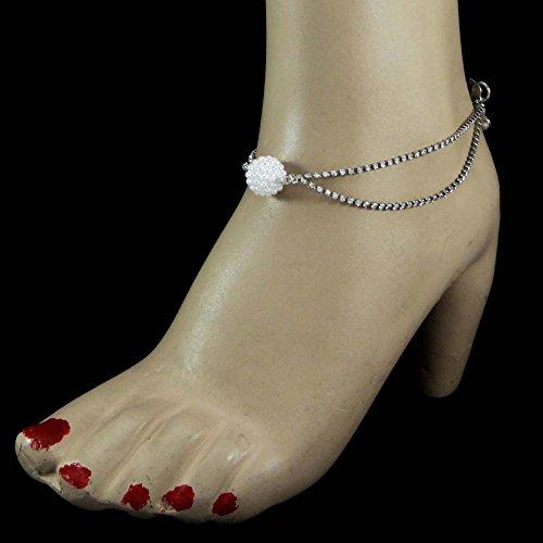 Banithani Nouvelle Chaîne De Cheville Mariée Bracelet Barfoot Plage Sandale Anklet Bijoux Cadeau Pour Elle Argent