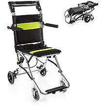 El transporte ligero de la silla de ruedas plegable del adulto con frenos de freno,