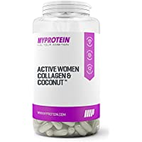 MY PROTEIN Active Woman Food supplement, Collagen and Coconut, Pack of 180 Capsules