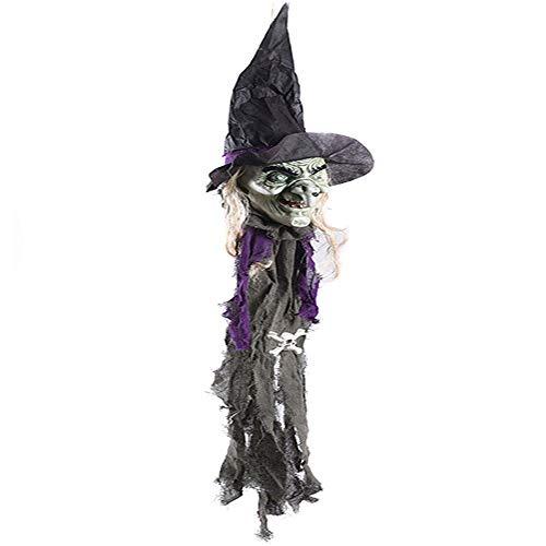 Beängstigend Animierte Halloween Bilder - JZFUKSP Halloween hängende Hexe Dekor -