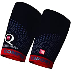Compressport Quad Trail - Muslera unisex, color negro / rojo, talla 3