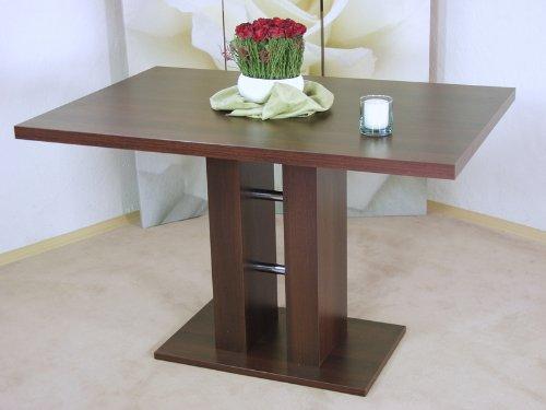 Säulentisch nußbaum dunkel Esstisch Esszimmertisch Tisch Küchentisch Esszimmer