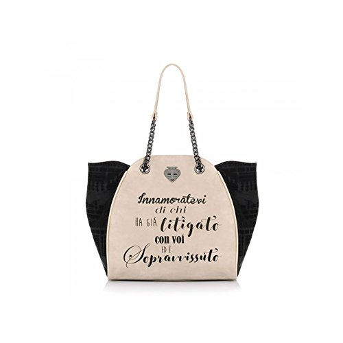 Borsa le Pandorine classic velvet sopravvisuto NEW COLLECTION AI 20178 Schwarz