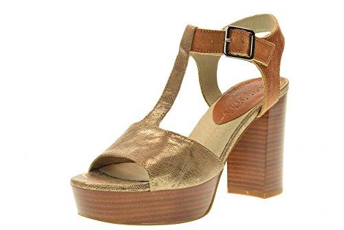 Fabbrica Dei Colli Chaussures Femmes Hautes Sandales à Talons 1URBAN100 Cuir Taille 40 Peau