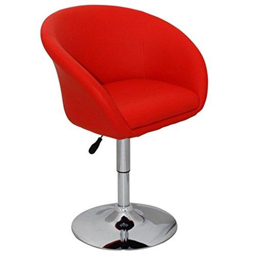 Vidaxl sgabello design moderno ecopelle a poltroncina schienale avvolgente rosso