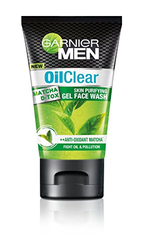 Garnier Men Oil Clear Matcha D-tox Gel Facewash, 100g  available at amazon for Rs.184