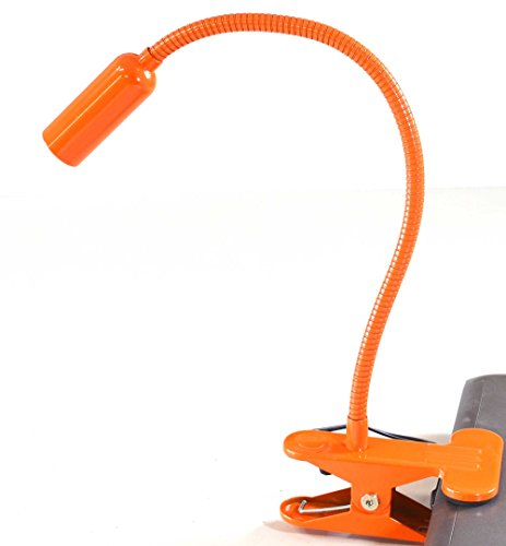 Easy-Home-Orange-Swan-Neck-Flexible-Daylight-LED-Spot-Clamp-Clip-Lamp-Mains-Powered