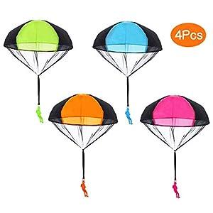 Sparta's Store hand werfen fallschirm sets, einschließlich 4 × Kinder Hand werfen Fallschirm Spielzeug.Sehr gute Outdoor-Spielzeug für Kinder, kann als Geschenk an Kinder gegeben werden! Bringen Sie Ihrem Kind mehr Freude!