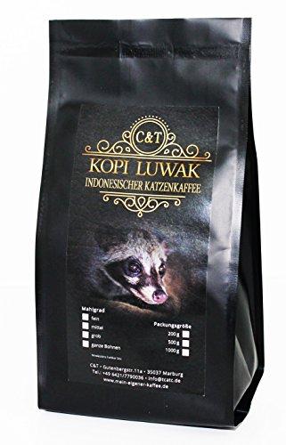 (Kaffee Katzenkaffee Kopi Luwak Arabica (Von Freilebenden Tieren) Gemahlen (100 g))