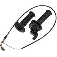 cable y mangos - TOOGOO(R)conjunto de cable de giro y punos de acelerador para bicicleta de cross ATV PIT de 90cc,110cc,125cc negro