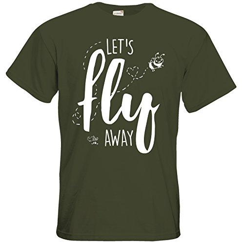 getshirts - Pummeleinhorn - T-Shirt - fly away Khaki