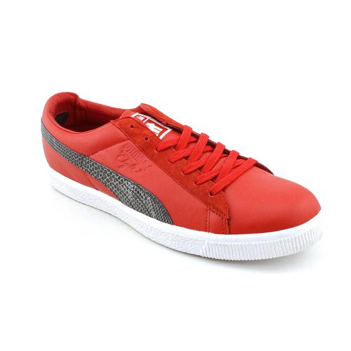 Puma Clyde X Undftd Snakeskin Cuir Baskets Ribbon Red