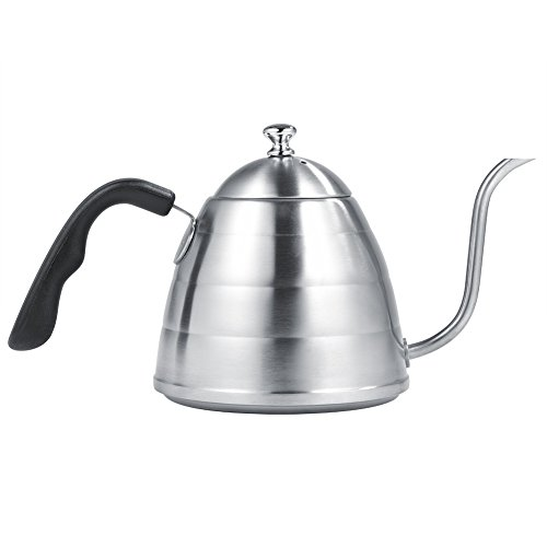 Fdit pour over Café Hervidor de agua 900ml Premium 304Acero Inoxidable Tetera Goose Neck Kettle Tetera para mano Drip Cafe la mejor opción para cafe Lovers