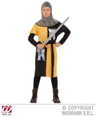 KINDERKOSTÜM - RITTER - gelb/schwarz 158 (Mittelalterliche Kostüme Für Jugendliche)