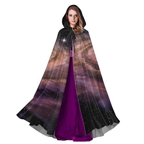 Rtosd 3D Space Spiral Galaxy Mantel Adult Womens Umhang Cape 59 Zoll für Weihnachten Halloween Cosplay - Women's Space Kostüm