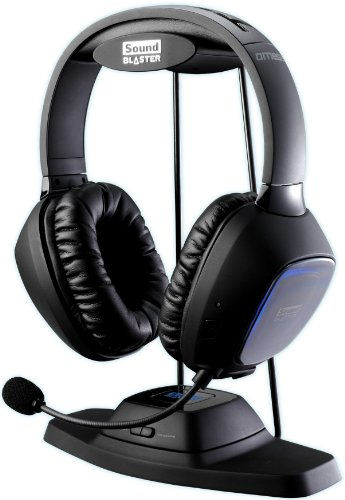 Creative Sound Blaster Tactic3D Omega Wireless THX Headset für PC, Xbox 360, PS3 und Mac thumbnail