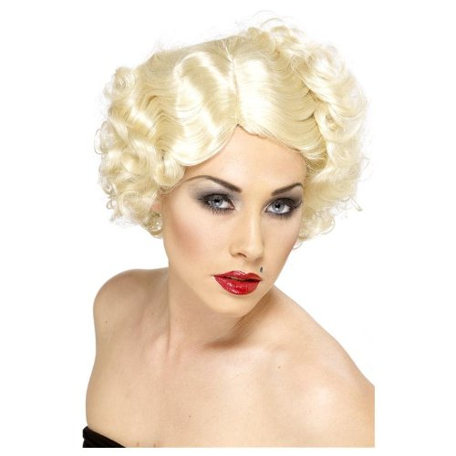 cke Perücke Diva blond Mafiaperücke Mafia 20iger Jahre Kurzhaarperücke Kurzhaar (Tina Turner Kostüme Erwachsene)