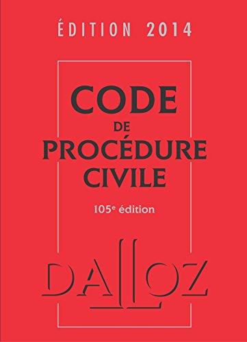 Code de procédure civile 2014-105e éd.