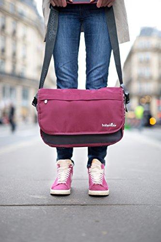 Babymoov A043548 Wickeltasche Messenger Bag, petrol hibiskus