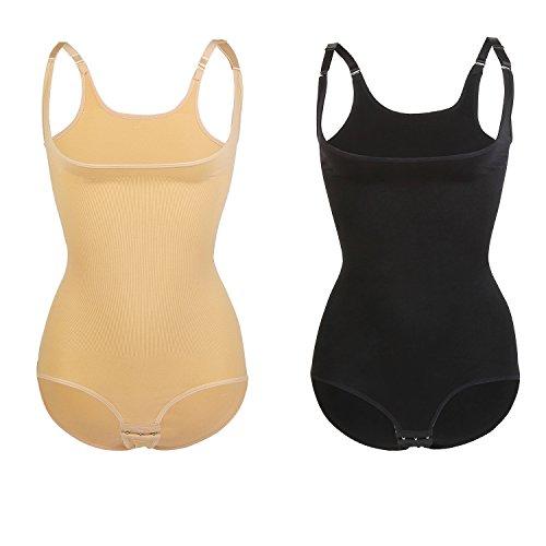 Libella Damen Shapewear figurformend Miederbody Bodysuit 3603 Schwarz mit Verschluss