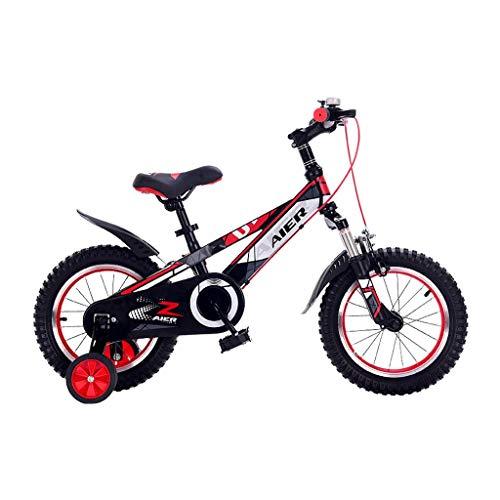 Junge Fahrrad 2-3-4-6-7-8 Jahre Alte Kinder Fahrrad Mädchen Fahrräder Sport Mountainbikes 12,14,16 Zoll Fahrrad Schüler Fahrrad (Color : Red, Size : 14inches)