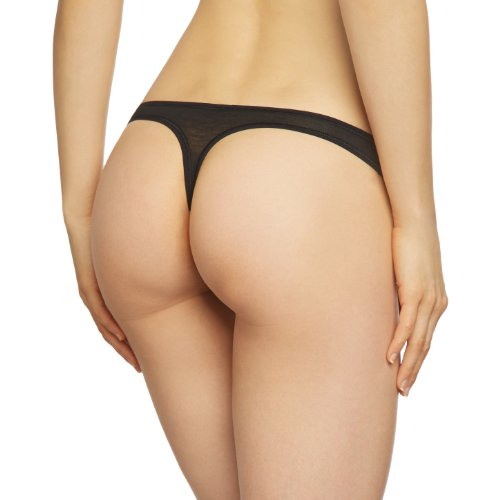 Skiny Damen Strings Essentials Light String Schwarz (BLACK 7665)