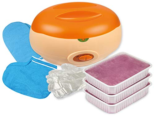 PREMIUM-SET - PARAFFINBAD für Hände und Füße + 3 x 400g PARAFFINWACHS Lavendelduft und Zubehör