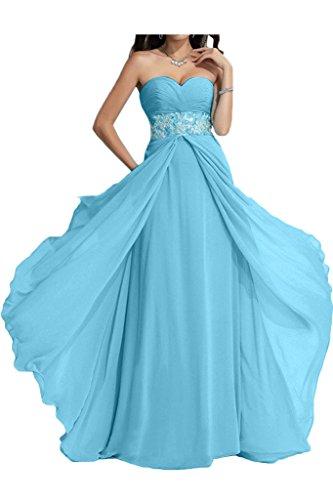 ivyd ressing Femme Exquisite Cœur de la découpe A ligne pierres fixe robe longue Party Prom robe robe du soir Bleu