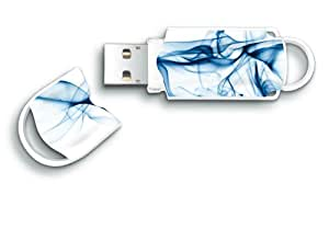 Integral Xpression 8 GB Wave Design USB Flash Drive - Blue, White