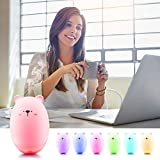 TekHome 2019 Essential Oil Diffuser, Cool Mist Humidifiers with 7 Color Lights, 50ml Mini Diffuser Humidifier for Bedroom, Aroma Diffuser for Office, Baby Room, SPA, Yoga, Waterless Auto Off, 8H Use.