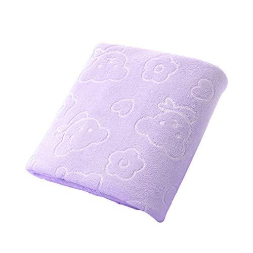 Nano-Mikrofaser Handtuch mit Baby Baden, multifunktional, Küchenreinigung, saugfähig, 30 x 71 cm, violett, Einheitsgröße ()