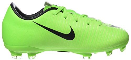Nike Mercurial Victory Vi Fg, Chaussures de Football Mixte Enfant Vert (Electric Green/blk-flsh Lm-wht)