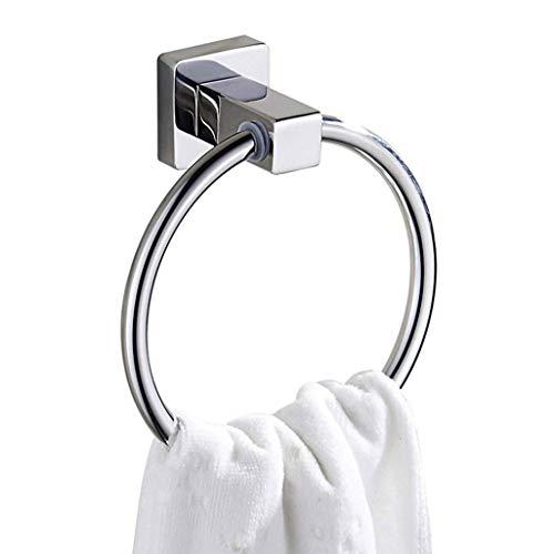 M-J Handtuchring 304 Edelstahl Handtuchhalter Moden Square Base Wandmontage Poliert Handtuchhalter Handtuchhalter Badzubehör für Badezimmer Handtuchhalter für Badezimmer -