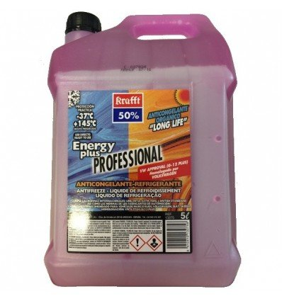 krafft ANTICONGELANTE REFRIGERANTE 50% Energy Plus Long Life G12 Color Violeta