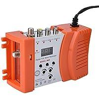 Eboxer Modulateur RF Numérique AV vers RF Dual Bande VHF/UHF 47~868 MHz Standard PAL/NTSC Sortie Audio/Vidéo Réglable pour Maison(Orange)