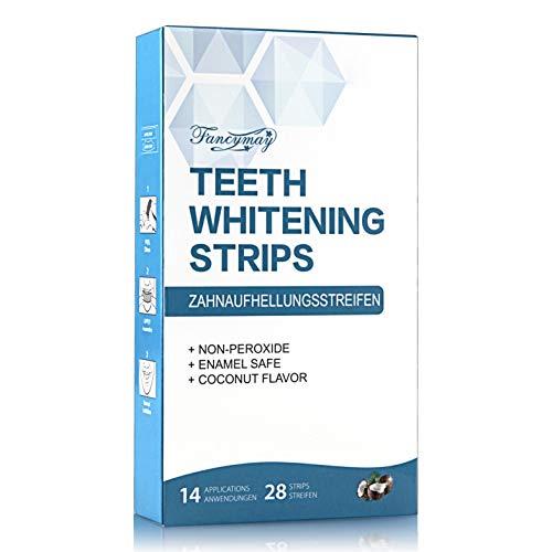 White stripes| Fancymay 28 Bleaching Stripes Zahnauhellung-Streifen | mit advanced no-slip technology | Professionelles Bleaching für Weiße Zähne Zahnweiss| Zahnaufhellung Bright White Strips